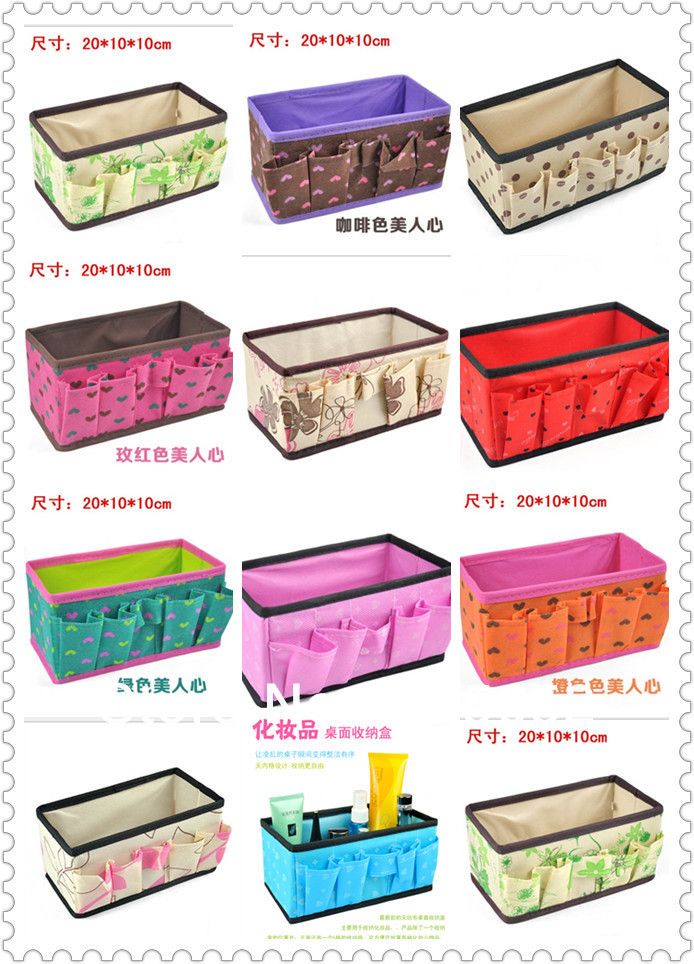 11 style can choose Polka Dot Thickening Desktop Cosmetics Storage Box Organizer case Free shipping(China (Mainland))
