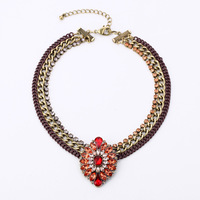 High-quality jewelry 2014 New Statement Choker Vintage Collar Chunky Pendant Necklaces & Pendants Necklaces Fashion 2014 women