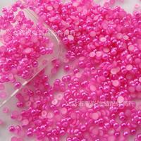 free shipping 1.5-14mm 10000-1000pcs/lot flat back rose half pearl DIY jewelry accessories