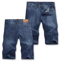 PLUS SIZE new straight fashion casual dark blue shorts, free shipping