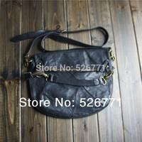 General fashion vintage messenger bag messenger bag one shoulder handbag cowhide handbags unisex