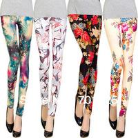 2013 vintage print legging ankle length trousers elastic thin female fancy legging