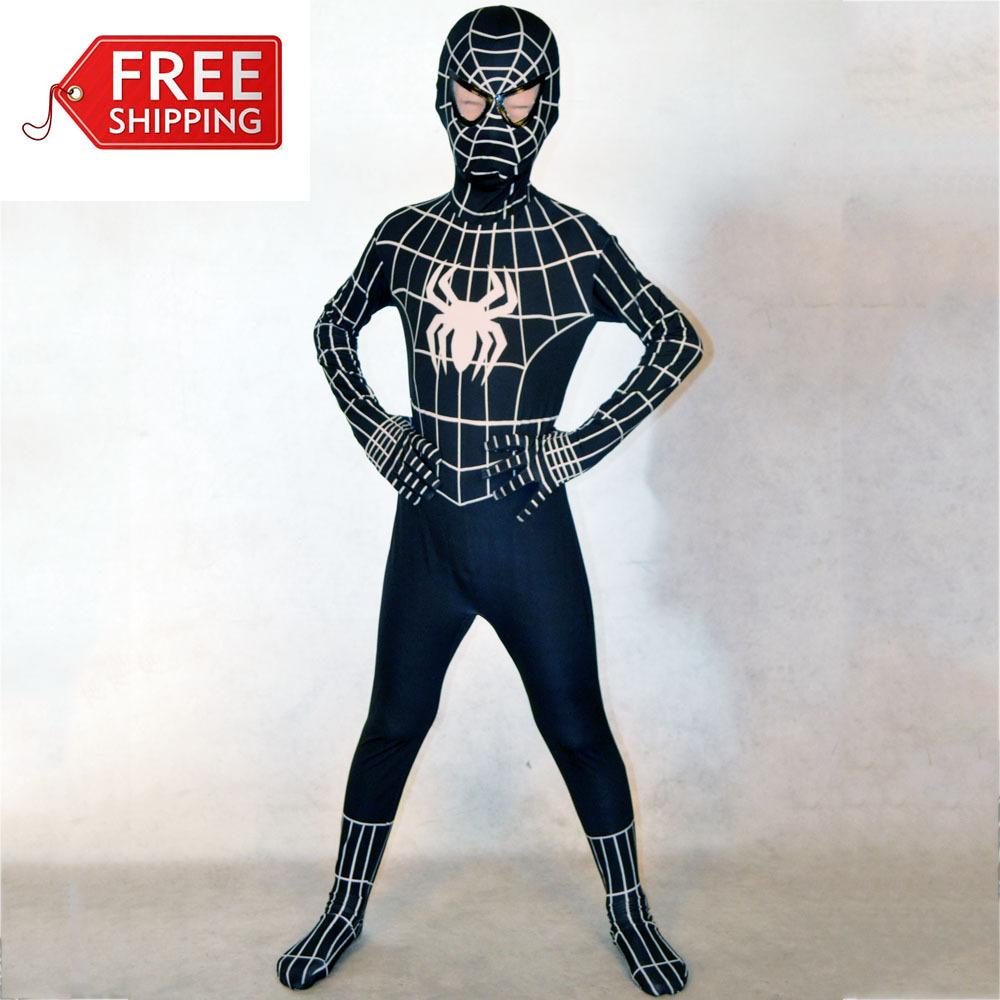 Костюм человека паука черного