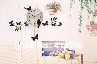 Free Shipping! New Modern Butterfly Bird Home Decor DIY Wall Clock  Novelty Items CLOCKS 3pcs #GZ021