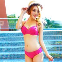 Big small victoria steel push up triangle bikini female bikini swimwear