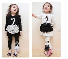 Spring 2014 Fashion Korean explosion models models girls dream swan stereo suit pants suit free shipping(China (Mainland))