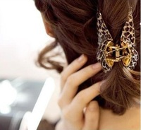2pcs/lot,Fashion sexy leopard hairpin big hair accessories for women  Free shipping wholesale retail