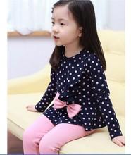 2014 fashion new Korean female Tong Chunqiu bottoming bottoming shirt long-sleeved pants + Princess T-shirt free shipping(China (Mainland))