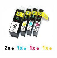 5PK BLACK & COLOR Ink Cartridge for Lexmark 100XL 100 XL For Lexmark Printer Ink No. 2