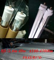 free shiping 50pcs  2400mm /2.4m T8 tube smd 2835 40W led fluorescent T8  tube FA8S  led single pin tube lamp 8ft led light bulb