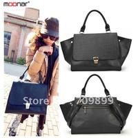 Hot sale free shipping Black crocodile grain of bats handbag phantom bag aslant batgirl package the new 2014 13-B224#S5