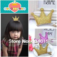 Fashion Children Acdcessories,Kids Crown  Hair Accessories,Fascinators Korean Pink Hair Clip PJ-168 10pcs/Lot