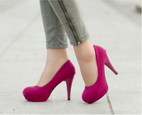 Free shipping High-Heeled Shoes Pointed Toe shoes Women's Single shoes  New Arrival 2014 women's shoes