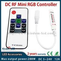 DC RF LED RGB strip light remote dimmer controller 5V 12v 24v 12A for 5050 3528 RGB LED Strip Light 20 Static Color