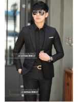 The new 2014, men, cultivate one's morality, black suit, suits, fashion leisure, wedding dress, the trend of the suit