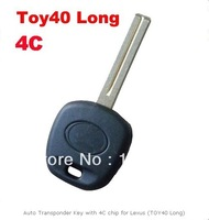 Auto Transponder Key with 4C chip for Lexus (TOY40 Long)  with free shipping