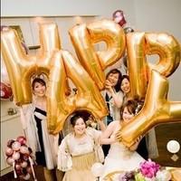 "13 pieces/lot ""HAPPY BIRTHDAY"" Aluminum Foil Balloon Large balloon Wedding Party Decoration Balloons"