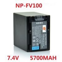 NP-FV100 battery pack 5700MAH for Sony CX150E CX180E CX210E PJ600E PJ30E PJ760E B239