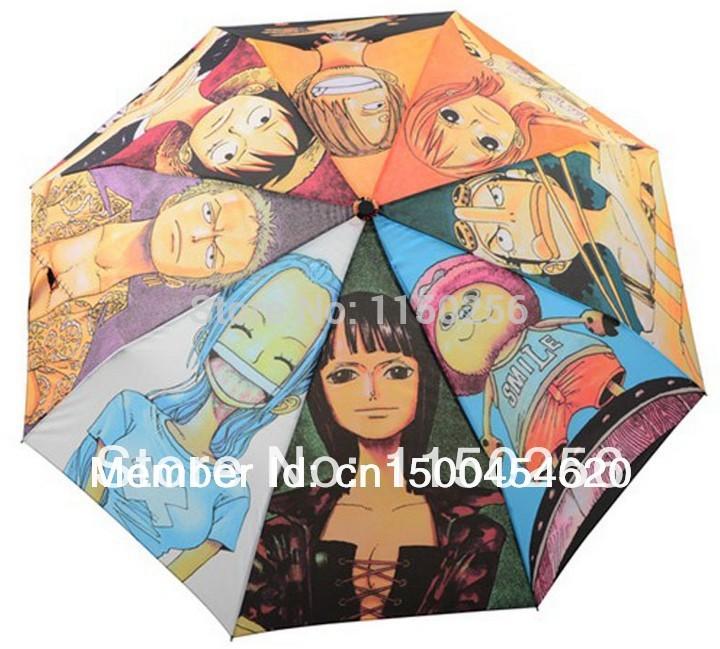 One Piece Cosplay Umbrella Folding Mini Zoro Chopper Luffy Rain Sun-shading Umbrella 8 Skeleton Compact Tote New(China (Mainland))
