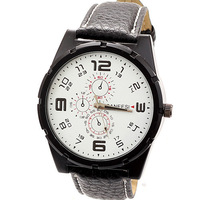 2013 Dropship Hot Fashion PU Leather Strap Watches Men Luxury Brand Sport Free Shipping
