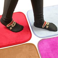 Ultrafine fiber coral fleece slip-resistant pad thickening absorbent mats doormat bath mat