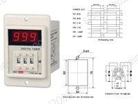 Power ON Delay Timer Relay 1-999 Minutes AC 220V [K414]