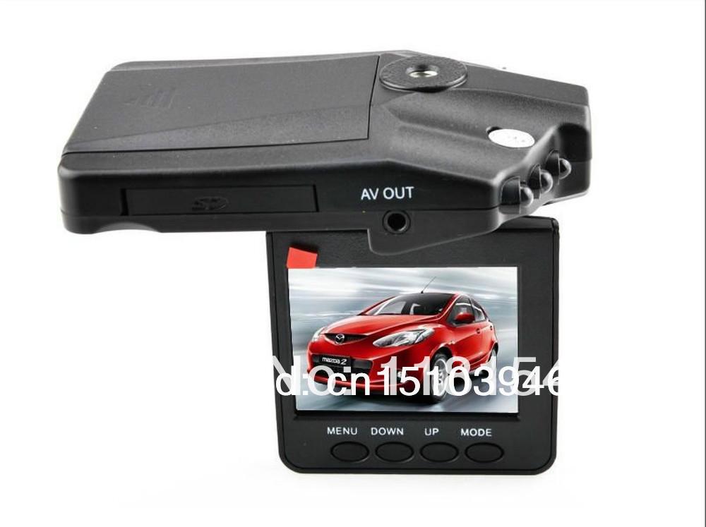 H198 Car DVR Video Recorder 6 IR Led Night Vision Vehicle black Box Camera Free Shipping(China (Mainland))