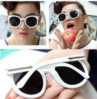 New fashion vintage retro sunglass 2014 brand round designed sunglass leopard sun glasses mix colors Retail