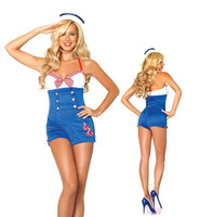 Women Navy sailor blue costumes dress club costumes DS sexy lingerie z851-2 , free shipping