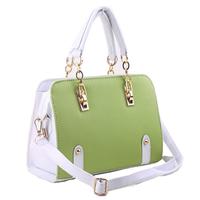 Color block 2014 female bags candy handbag women's handbag vintage one shoulder cross-body  free shipping