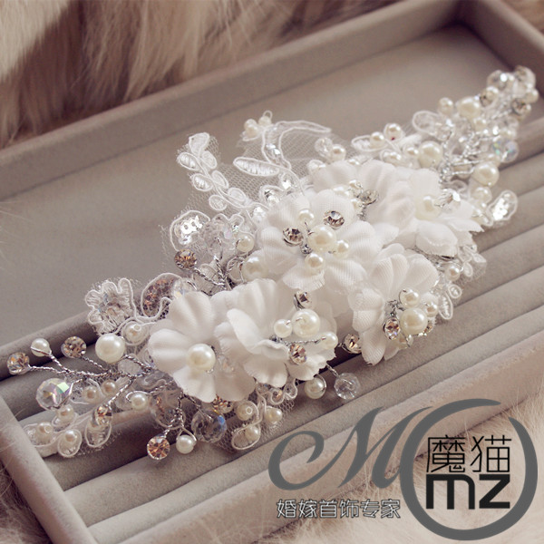 Stubbiness bride hair accessory wedding dress hair accessory hair accessory bride lace hair accessory fashion marriage