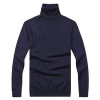 2013 bikk male brief all-match slim turtleneck pullover sweater male sweater