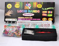 FedEx shipping 100 set/lot 2013 rubber bands loom kit loom bands DIY bracelets Christmas gift present