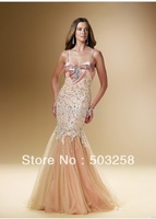 MCD22 Hot Sale Sexy Charming Sweetheart Beaded Christmas Mermaid Evening Dresses Prom Dresses