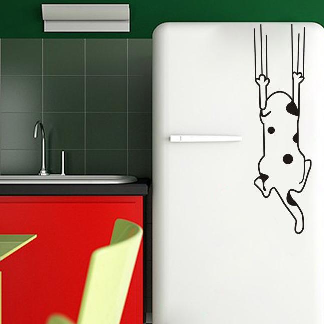 Cartoon child real wall sticker refrigerator stickers wardrobe glass stickers decoration dog(China (Mainland))