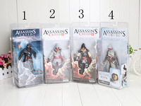 Assassin's Creed 5pcs 7inch new Genuine NECA Assassin's Creed II EZIO Black& White PVC Action Figure Toys high quality