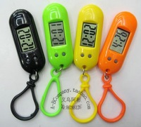 free shipping Hanging buckle table keychain table electronic watch lcd watch 2.0 spare