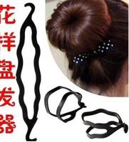 Min. order is $10 (mix orderz)  Hair Device Disk Hair Styling Bun Ring Dount Maker Twist Curler Tool 10pcs/lot