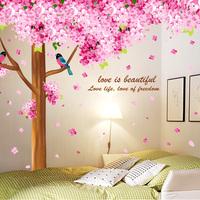 Cherry tree - sofa tv wall ofhead large tree wall stickers