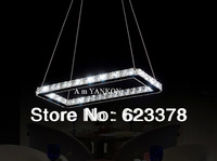 Free shipping DHL 3-7days Modern Fashion Led Restaurant Crystal Chandelier Light Rectangle LED Droplight Lamps CL14