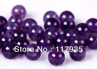 "100% AAAAA+ Natural 15"" 6-12mm Uruguay Crystal Amethyst Dreamy purple quartz  round ball Loose Beads jewelry making"