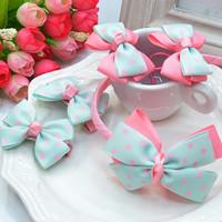 10 pcs/lot kids/girls fashion headwear set accessories beautiful jewelry sets (headband+hair clip+hairband) FG-85