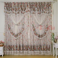 Blooping rich lace rustic curtain finished product quality girl