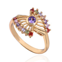 CZ Fashion Jewelry 18K Gold Plated Round Wedding Ring Mix $10 Free Shipping