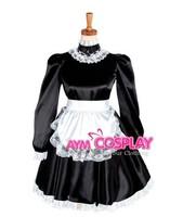 Hot Sale Sissy Maid Dress Satin Lockable Dress Maid Uniform Lolita Dress