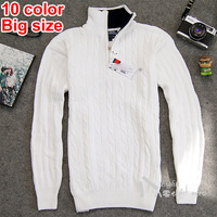 2014 New spring men's casual sweater collar pullover knit sweater