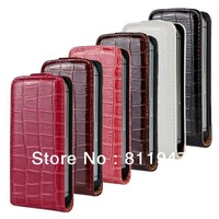 Flip Crocodile Leather Case for iPhone 5 5S
