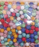 High Quality 10mm mixed 150pcs/lot  Micro Pave CZ Disco Ball hot Crystal Shamballa Beads.Wholesale! Stock Lot!Bracelet DIY bead