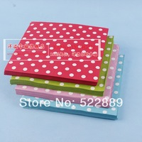 Multicolour polka dot table napkin fashion eco-friendly - 20 table cloth wedding supplies