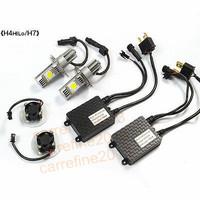 EMS 2Sets/lot H7 50W CREE 2-LED Headlight Kit H8 H9 H10 H111 H16 9005 9006 1800lm 6000K Xenon White Car Truck Universal